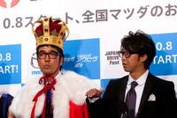 おぎやはぎの小木さん(左)と矢作さん(右)