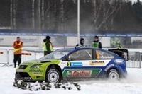 2006年、1点差でタイトルを逃したフォードのマーカス・グロンホルム。スノーラリー2連戦の緒戦を制した。