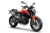 「KTM790デューク」。ボディーカラーはオレンジ。