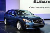 新型「スバル・インプレッサ」。写真は北米仕様の5ドア車。