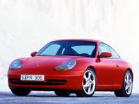 「ポルシェ911(996)」 「ポルシェ911」の5代目モデルで、1997年から2004年まで生産された。環境問題に対応するため、初めてエンジンが水冷化されている。涙滴型のヘッドランプが特徴。