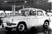 61年秋の東京モーターショーに参考出品された、キャロルの原型となったプロトタイプ「マツダ700」。