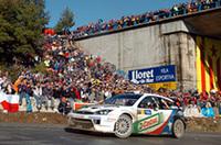 フォードのウェポン「フォーカスRS WRC」は、アスファルトで絶好調。マルティンは、2位マーカス・グロンホルムに23.2秒差をつけゴールした。