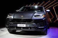 ランボルギーニ第3のモデルラインとなる新型SUVの「ウルス」。