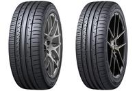 ダンロップの新製品「SP SPORT MAXX 050+」(左)と「SP SPORT MAXX 050+ FOR SUV」(右)。