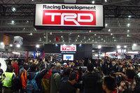大盛況となったトヨタテクノクラフト・TRDブースの様子。