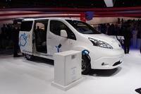 商用のEVである「e-NV200」。年内の日本導入が予定されている。