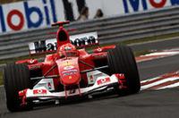 F1ハンガリーGP、シューマッハー7連勝、跳ね馬に栄冠!【F1 04】の画像