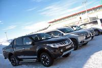 試乗のために用意された車両のなかには、SUVの「パジェロスポーツ」やピックアップトラックの「トライトン」など、日本で販売されていないモデルの姿も。