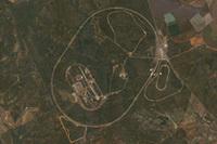 上空から見た「ウバルデ・プルービンググランド」。まるで「ナスカの地上絵」だ。