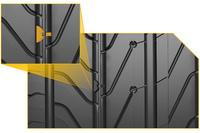 縦溝を空気が通ることで発生する音を低減する、「ノイズブレーカー」のイラスト。