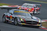No.11 GAINER TANAX SLS(平中克幸/ビヨン・ビルドハイム組)。一時は首位に立つも、クラス3位でレースを終えた。