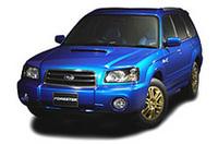 【写真上】レガシィシリーズのWR Limited 2004 【写真下】フォレスターXT WR Limited 2004
