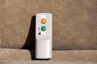 助手席の操作はリモコンでも可能。