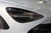 ヘッドライトとターンシグナルを組み合わせた大型のLEDライトユニットを低く配置している。