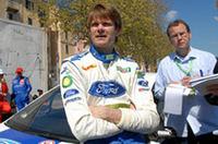 """38歳のフィンランド人、マーカス・グロンホルム。古巣プジョーの撤退を受けてフォードに新天地を求めた2006年、セバスチャン・ロウブを追いかける""""2強""""の一角をなす。"""