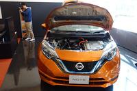 発売されたばかりの「日産ノートe-POWER」も展示されていた。「GT-R」専門の販売店というわけではなく、通常の日産車も販売されている。