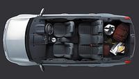 メガーヌワゴンのラゲッジルームは520リッター(VDA法)。リアシートを折り畳むと、1600リッターまで拡大することができる。