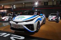 2014年に発表された燃料電池車「ミライ」の、ラリー仕様車。