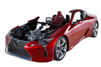 会場には、ジェイテクトの製品を多数採用した「レクサスLC500」のカットモデルも展示される。