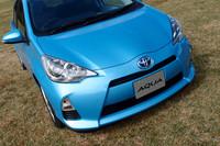 トヨタ、小型量産HVの「AQUA」を参考出品【東京モーターショー2011】
