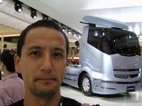 大型トラックは商用車ショーならでは。コレは三菱ふそうのコンセプトカー「FUSO CONCEPT」。