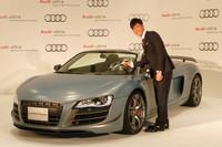 新たにブランドアンバサダーに就任したプロゴルファーの石川遼選手。