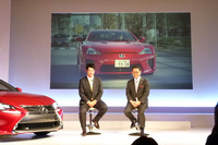 会場では、豊田社長と松山選手が一緒にドライブした映像が流れた。