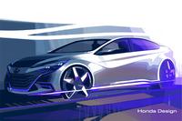 ホンダが出展する中国向けコンセプトモデルのデザインスケッチ。