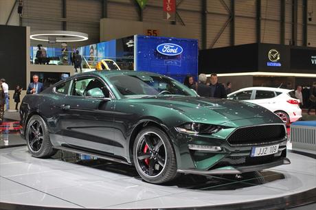 2018年3月6日に開幕した第88回ジュネーブ国際モーターショー。フォードは「マスタング ブリット」をヨーロ...