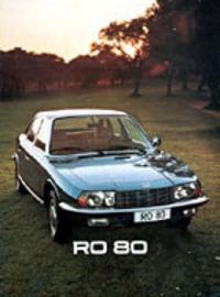 Ro80のカタログより。異形ヘッドライトをはじめとする各部のモチーフから推測するに、スタイリングにはピニンファリーナの息がかかっているようだ。