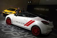 発表会では、2014年6月にニュルブルクリンクでタイムアタックを行った「メガーヌ ルノースポール トロフィーR」が展示された。