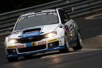 写真は、今年のニュルブルクリンク24時間耐久レースに参戦した「インプレッサWRX STI tS」ベースのマシン。「S206」にもSTIがレースで培ってきた技術が盛り込まれる。