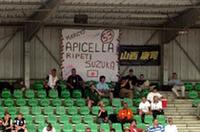 日本のJLOCを応援するファンがスタンドにも!終盤に入りトラブルに襲われたが、ランボルギーニ・ムルシエラゴRG-1のエキゾーストノートに魅せられたファンも多かった。