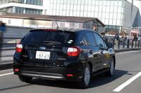 ハッチバックの「インプレッサスポーツ」。駆動方式は、運転支援システム「EyeSight」装着グレード(4WDのみ)を除き、FFと4WDの両方が用意される。