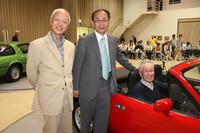 主役である「マツダのスポーツカーを育てた3人」。左から小早川隆治氏、貴島孝雄氏、平井敏彦氏。