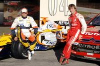 WRC王者ローブが、F1マシンをドライブ!