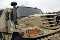 車両には、ドイツ・ダイムラーAG社員からのメッセージが。