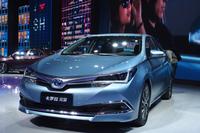 トヨタブースの目玉は「カローラ」のHV。中国で開発された。