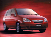 エリオは、2001年1月23日に発表された5ドアハッチ。スズキの欧州戦略車である。欧州名はリアーナ(LIANA)。国内では、1.5リッターモデルのみだが、輸出モデルは、1.3と1.6リッターの2種類が用意される。