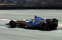 速いモントーヤ/マクラーレンの後ろにしっかりとつき、ライコネンの表彰台を阻むことに成功したルノー勢。アロンソは、次戦ベルギーGPでライコネンに4点以上の差をつければ、最年少ワールドチャンピオンになれる。(写真=ルノー)