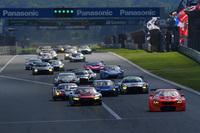 28台が出走したGT300クラス。No.55 ARTA BMW M6 GT3とNo.21 Hitotsuyama Audi R8 LMSが、激しいバトルを展開した。