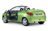 「プジョー206CC」に豊富なカラーバリエーションモデルの画像