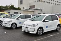 2014年10月に発表された電気自動車の「e-up!」。「e-ゴルフ」も2015年の年央をめどに導入される予定だ。