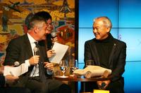 ピニンファリーナCEO(左)とCCCの増田宗昭社長(右)。