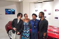 左からTAKUYA氏、フィアット クライスラー ジャパン・マーケティングディレクターのティツィアナ・アランプレセ氏、原田則彦氏、エンニョ・カパサ氏。
