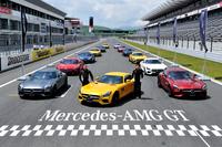 発表会は富士スピードウェイのレーシングコースで行われた。