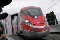 イタリアの鉄道会社トレニタリアが2015年6月に営業運転を開始する新型特急「フレッチャロッサ1000」。