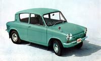 62年2月に発売された「マツダ・キャロル」。当初はボディは2ドアのみで、モノグレードだった。