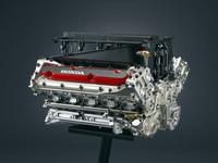 ホンダのF1用3リッターV10エンジン。レギュレーションが変わり、2006年からは2.4リッターV8へスイッチ。